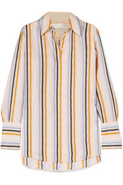 Victoria, Victoria Beckham Striped silk-satin shirt