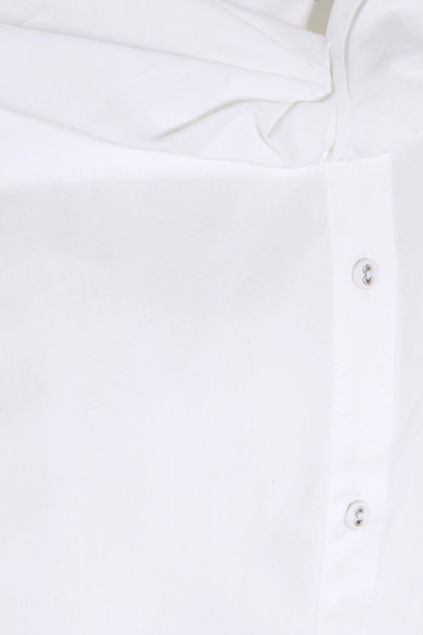 Victoria, Victoria Beckham Hemd aus Baumwollpopeline mit asymmetrischer Schulterpartie