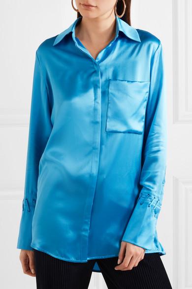 Victoria, Victoria Beckham Hemd aus Seidensatin