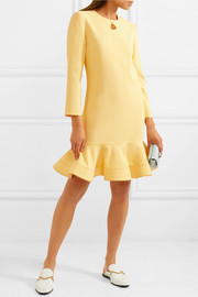 Flared crepe mini dress