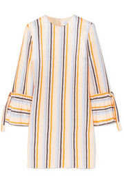 Victoria, Victoria Beckham Striped satin-twill dress