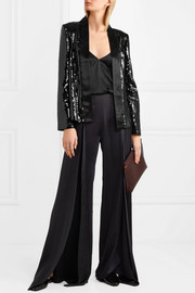 Sequined satin jacket