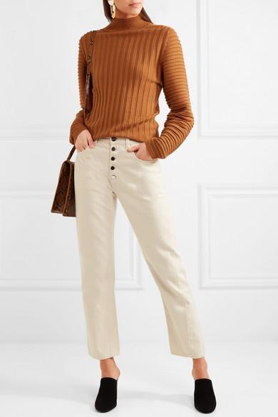 Victoria, Victoria Beckham Rippstrickpullover aus Wolle