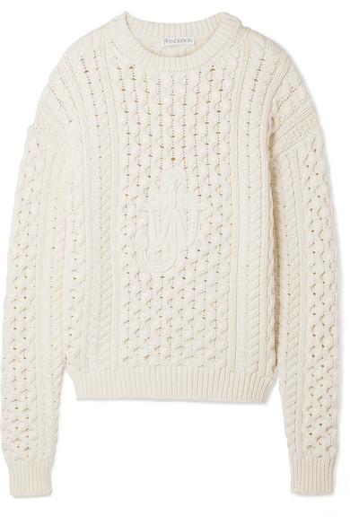 Jw Anderson Zopfstrickpullover From A Cotton Blend