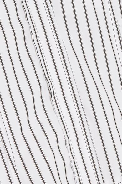 JW Anderson Kleid aus gestreifter Baumwolle in Distressed-Optik