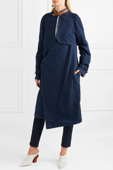 Jean Coat Anderson Jw From A Cotton Linen Blend With Leather Trim