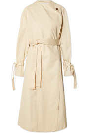 Oversized cotton-twill trench coat