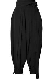 JW Anderson Pleated faille tapered pants