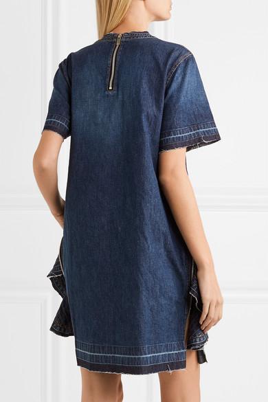 Sacai Jeanskleid mit Reißverschlussdetails