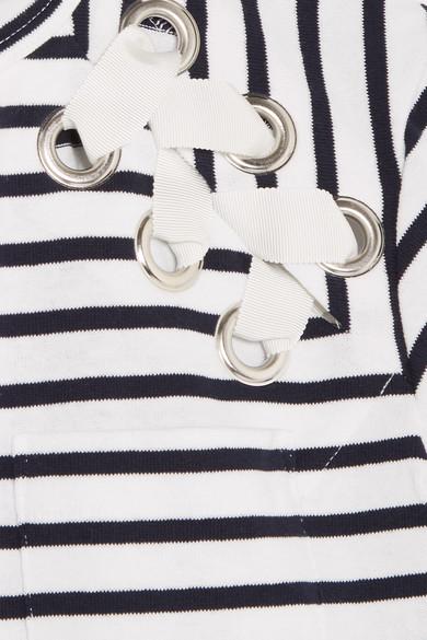 Sacai Dixie T-Shirt aus gestreiftem Baumwoll-Jersey