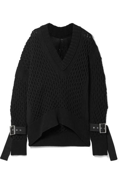 Sacai Verzierter Pullover aus einer Baumwollmischung