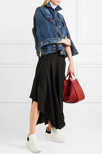 Sacai Jeansjacke mit Reißverschlussdetails