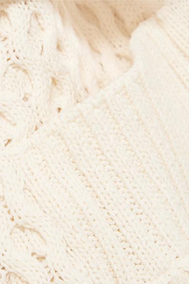 Sacai Zopfstrick-Cardigan aus einer Baumwollmischung mit Gürtel Spielraum Günstig Online Echt  Marktfähig ndnxjM