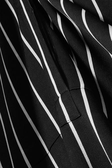 Haider Ackermann Maxikleid aus gestreifter Baumwolle