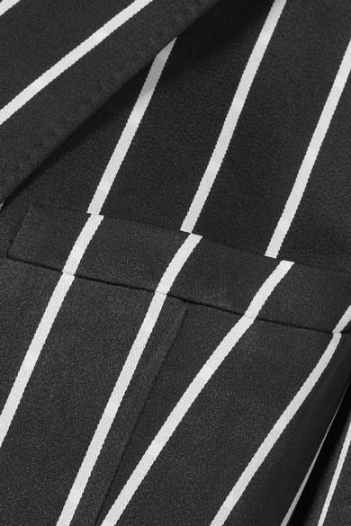 Haider Ackermann Gestreifter Mantel aus mattem Satin