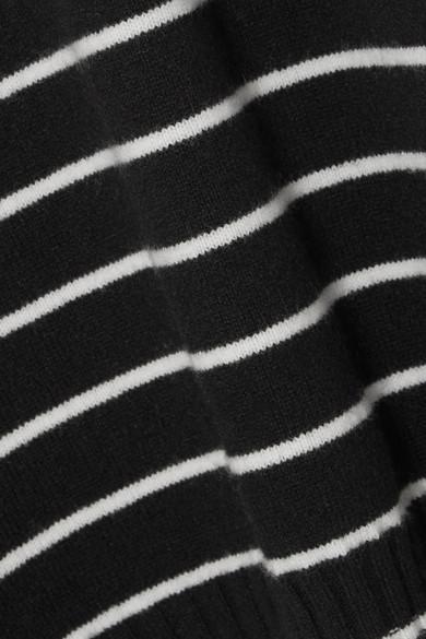 Haider Ackermann Gestreifter Pullover aus einer Wollmischung und Satin