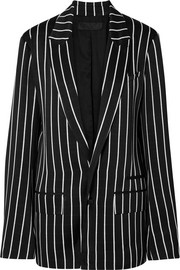 Striped satin blazer