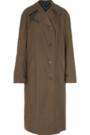 Oversized cotton-gabardine trench coat