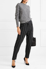 Haider Ackermann Striped cotton-twill tapered pants