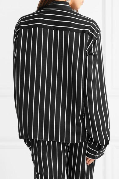 Haider Ackermann Gestreiftes Hemd aus mattem Satin