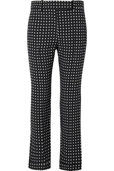 Haider Ackermann Crêpe-Hose mit geradem Bein und Polka-Dots
