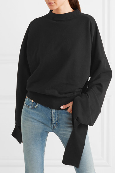 Vetements Oversized-Sweatshirt aus Baumwoll-Jersey in Distressed-Optik