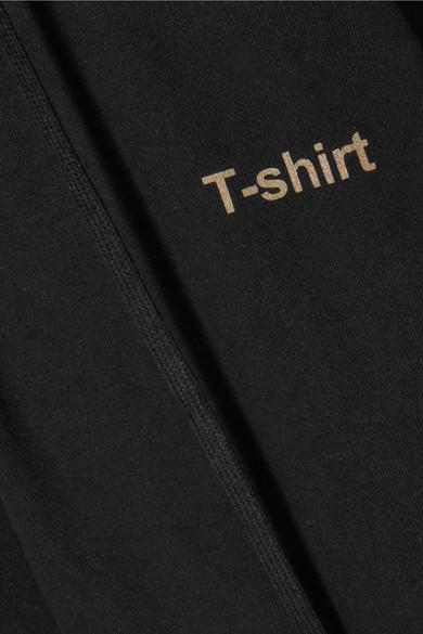Vetements Bedruckter Oversized-Mantel aus Baumwoll-Jersey mit Kapuze