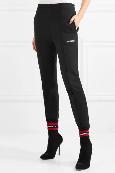 Vetements Jogginghose aus Baumwoll-Jersey mit Applikation