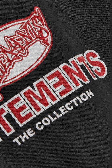 Vetements Oversized-T-Shirt aus Jersey aus Stretch-Baumwolle mit Print
