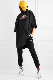 Oversized printed stretch-cotton  jersey T-shirt