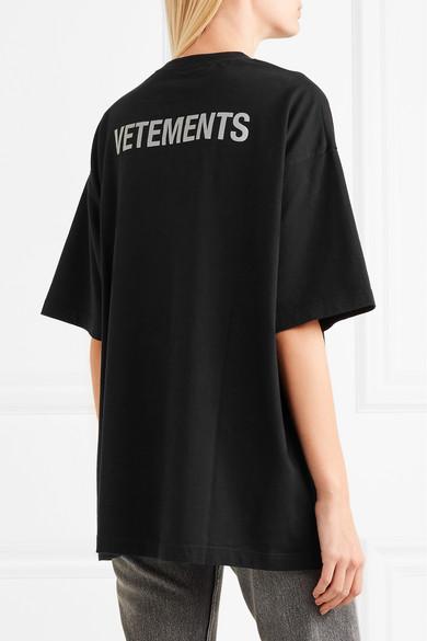 Vetements Bedrucktes T-Shirt aus Baumwoll-Jersey