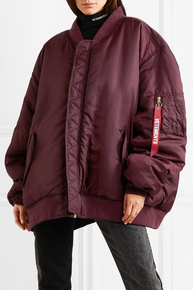 Vetements Wendbare Oversized-Bomberjacke aus Shell