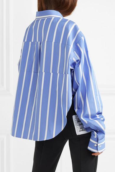 Vetements Gestreiftes Oversized-Hemd aus Baumwollpopeline