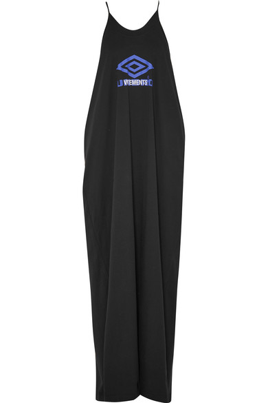 + UMBRO PRINTED COTTON-JERSEY MAXI DRESS