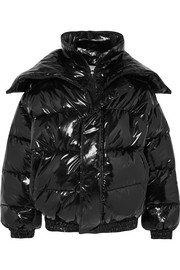 Vetements Oversized layered quilted vinyl jacket