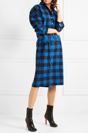 Checked flannel shirt dress