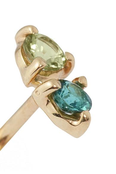 Two Step 14-karat Gold Tourmaline Earrings - one size Wwake dDlfA