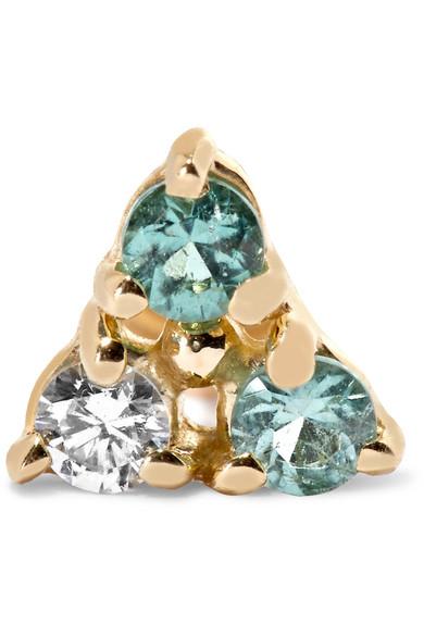 Two Step 14-karat Gold Tourmaline Earrings - one size Wwake ZciyK