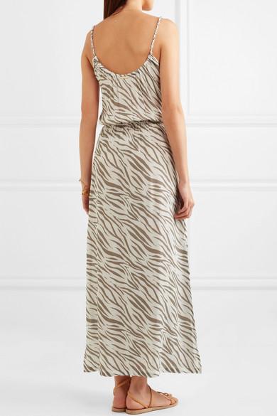 Kalahari Printed Voile Maxi Dress - White Heidi Klein Bb54Hz