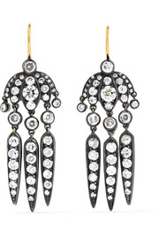 Collection Budding Flower Dart 18-karat Gold Diamond Earrings - one size Fred Leighton Z3LEmChC