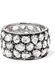 Fred Leighton Collection blackened platinum diamond ring