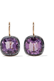 Collection 18-karat gold amethyst earrings