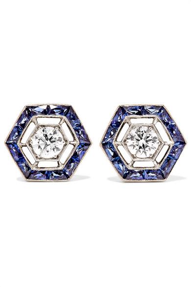 Collection 18-karat White Gold, Jade And Diamond Bracelet - one size Fred Leighton