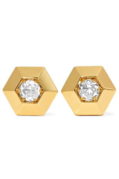 Fred Leighton - Collection 18-karat Gold Diamond Earrings