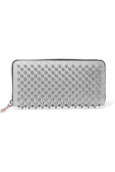 01feb38a2dd Panettone spiked glittered metallic leather continental wallet