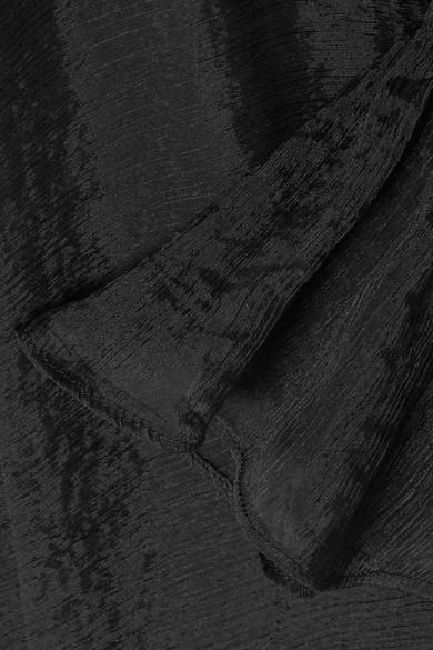 Beaufille Sol Midikleid aus plissiertem Chiffon