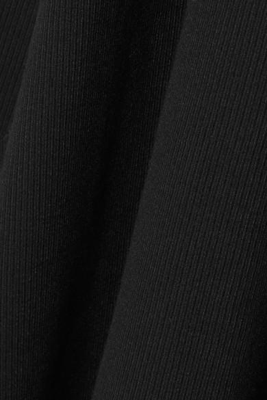 Beaufille Alora asymmetrisches Maxikleid aus Stretch-Rippstrick
