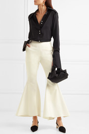 Zeke cotton-blend flared pants