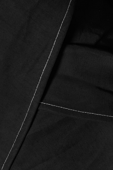 Beaufille Prima schulterfreie Bluse aus einer Stretch-Leinenmischung