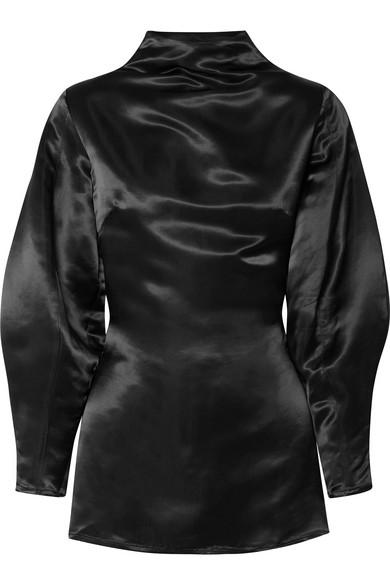 Beaufille Stella Bluse aus Satin mit Rückenausschnitt